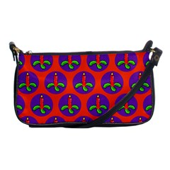 Christmas Candles Seamless Pattern Shoulder Clutch Bags