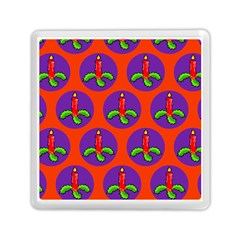 Christmas Candles Seamless Pattern Memory Card Reader (square)
