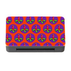 Christmas Candles Seamless Pattern Memory Card Reader With Cf