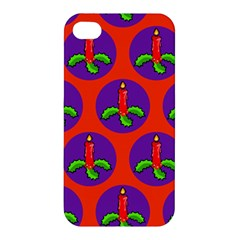Christmas Candles Seamless Pattern Apple Iphone 4/4s Hardshell Case