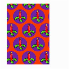 Christmas Candles Seamless Pattern Large Garden Flag (two Sides)