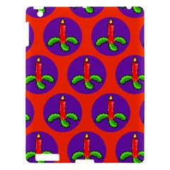Christmas Candles Seamless Pattern Apple Ipad 3/4 Hardshell Case
