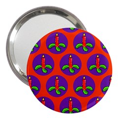 Christmas Candles Seamless Pattern 3  Handbag Mirrors