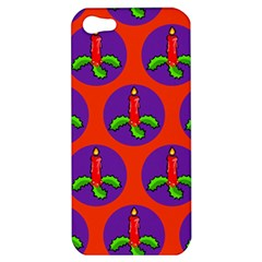 Christmas Candles Seamless Pattern Apple Iphone 5 Hardshell Case