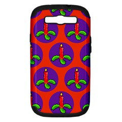 Christmas Candles Seamless Pattern Samsung Galaxy S Iii Hardshell Case (pc+silicone)