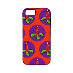 Christmas Candles Seamless Pattern Apple Iphone 5 Classic Hardshell Case (pc+silicone)