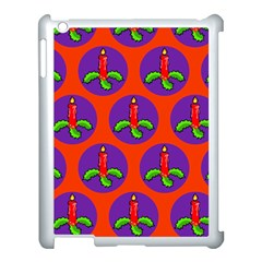 Christmas Candles Seamless Pattern Apple Ipad 3/4 Case (white)