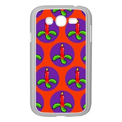 Christmas Candles Seamless Pattern Samsung Galaxy Grand Duos I9082 Case (white)