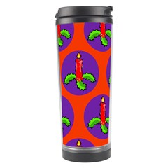 Christmas Candles Seamless Pattern Travel Tumbler