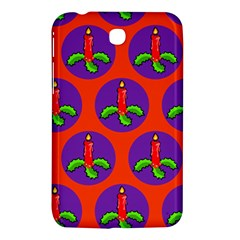 Christmas Candles Seamless Pattern Samsung Galaxy Tab 3 (7 ) P3200 Hardshell Case