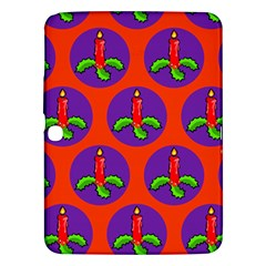 Christmas Candles Seamless Pattern Samsung Galaxy Tab 3 (10 1 ) P5200 Hardshell Case