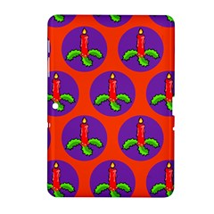 Christmas Candles Seamless Pattern Samsung Galaxy Tab 2 (10 1 ) P5100 Hardshell Case