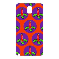 Christmas Candles Seamless Pattern Samsung Galaxy Note 3 N9005 Hardshell Back Case
