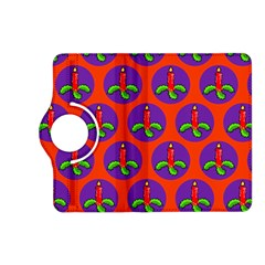 Christmas Candles Seamless Pattern Kindle Fire Hd (2013) Flip 360 Case