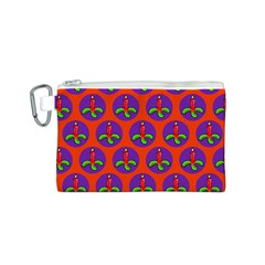 Christmas Candles Seamless Pattern Canvas Cosmetic Bag (s)