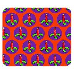 Christmas Candles Seamless Pattern Double Sided Flano Blanket (small)