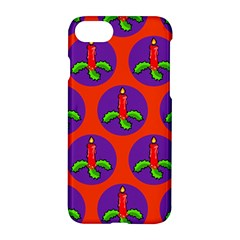 Christmas Candles Seamless Pattern Apple Iphone 7 Hardshell Case