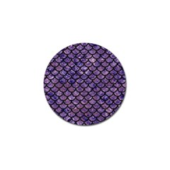 Scales1 Black Marble & Purple Marble (r) Golf Ball Marker (10 Pack)