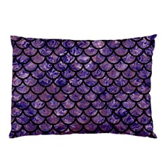 Scales1 Black Marble & Purple Marble (r) Pillow Case