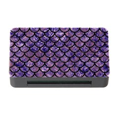 Scales1 Black Marble & Purple Marble (r) Memory Card Reader With Cf