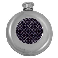 Scales1 Black Marble & Purple Marble Hip Flask (5 Oz)