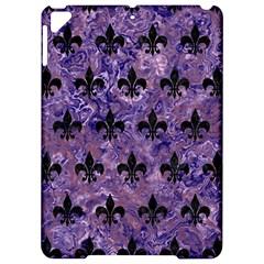 Royal1 Black Marble & Purple Marble Apple Ipad Pro 9 7   Hardshell Case