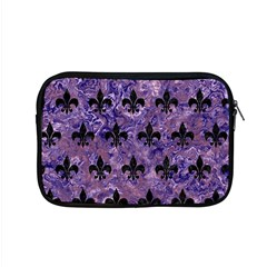 Royal1 Black Marble & Purple Marble Apple Macbook Pro 15  Zipper Case