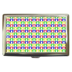 Colorful Curtains Seamless Pattern Cigarette Money Cases