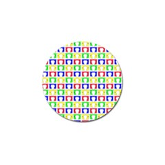 Colorful Curtains Seamless Pattern Golf Ball Marker