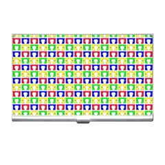 Colorful Curtains Seamless Pattern Business Card Holders