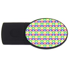 Colorful Curtains Seamless Pattern Usb Flash Drive Oval (2 Gb)