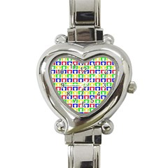 Colorful Curtains Seamless Pattern Heart Italian Charm Watch