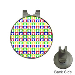 Colorful Curtains Seamless Pattern Hat Clips With Golf Markers
