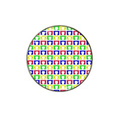 Colorful Curtains Seamless Pattern Hat Clip Ball Marker