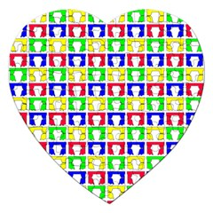 Colorful Curtains Seamless Pattern Jigsaw Puzzle (heart)