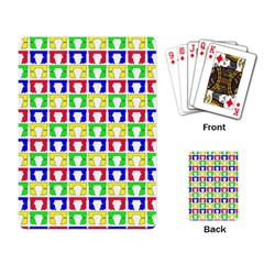 Colorful Curtains Seamless Pattern Playing Card