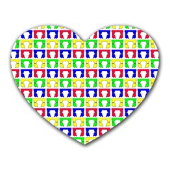 Colorful Curtains Seamless Pattern Heart Mousepads