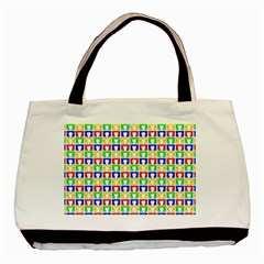 Colorful Curtains Seamless Pattern Basic Tote Bag (two Sides)