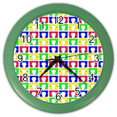 Colorful Curtains Seamless Pattern Color Wall Clocks