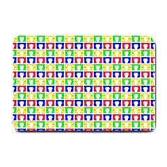 Colorful Curtains Seamless Pattern Small Doormat