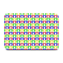 Colorful Curtains Seamless Pattern Plate Mats