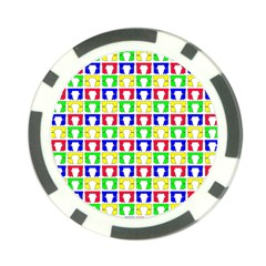 Colorful Curtains Seamless Pattern Poker Chip Card Guards