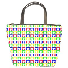 Colorful Curtains Seamless Pattern Bucket Bags