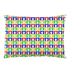 Colorful Curtains Seamless Pattern Pillow Case