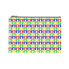 Colorful Curtains Seamless Pattern Cosmetic Bag (large)