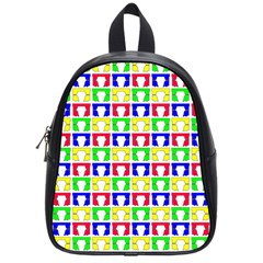 Colorful Curtains Seamless Pattern School Bags (small)