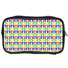 Colorful Curtains Seamless Pattern Toiletries Bags 2 Side