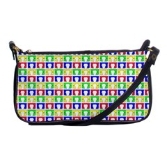 Colorful Curtains Seamless Pattern Shoulder Clutch Bags