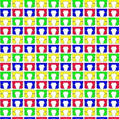 Colorful Curtains Seamless Pattern Magic Photo Cubes