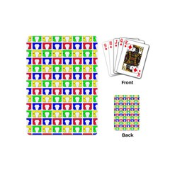 Colorful Curtains Seamless Pattern Playing Cards (Mini)